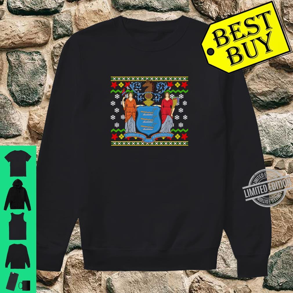 New Jersey Flag Ugly Christmas Pattern Shirt sweater