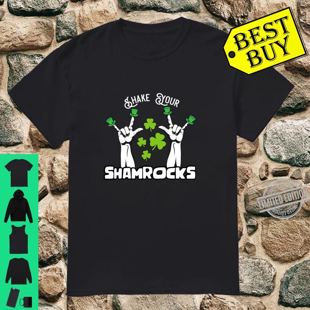 Vintage Shake Your Lucky Shamrocks St Patrick's Day Irish Shirt
