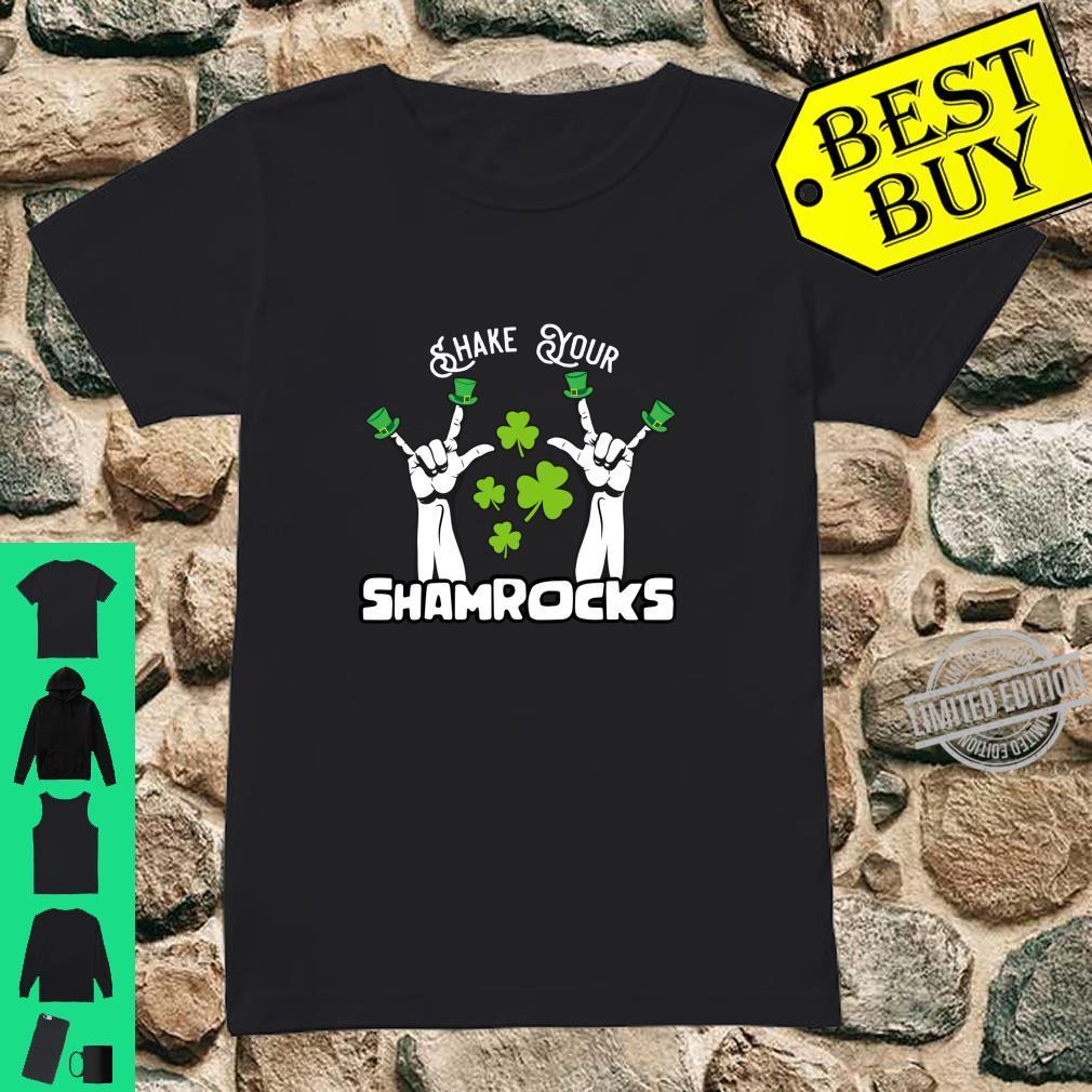 Vintage Shake Your Lucky Shamrocks St Patrick's Day Irish Shirt ladies tee