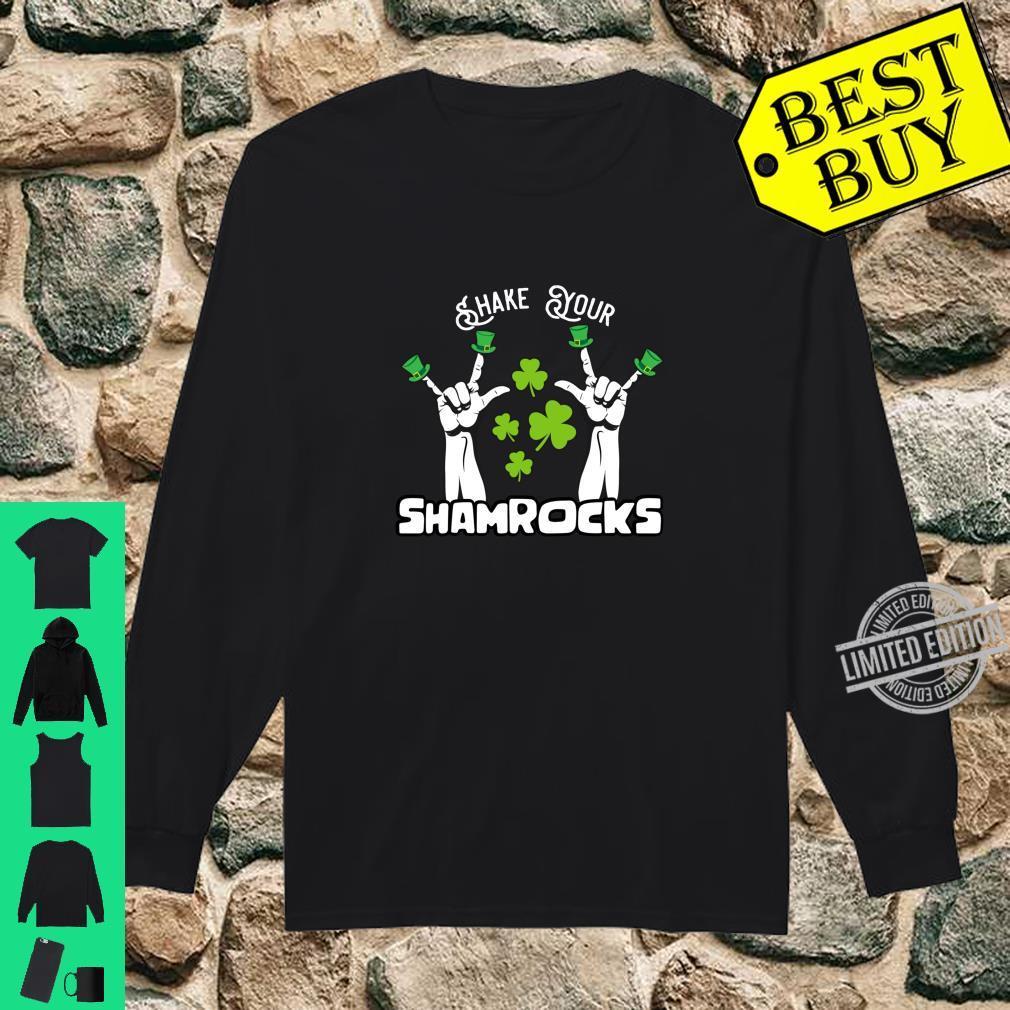Vintage Shake Your Lucky Shamrocks St Patrick's Day Irish Shirt long sleeved