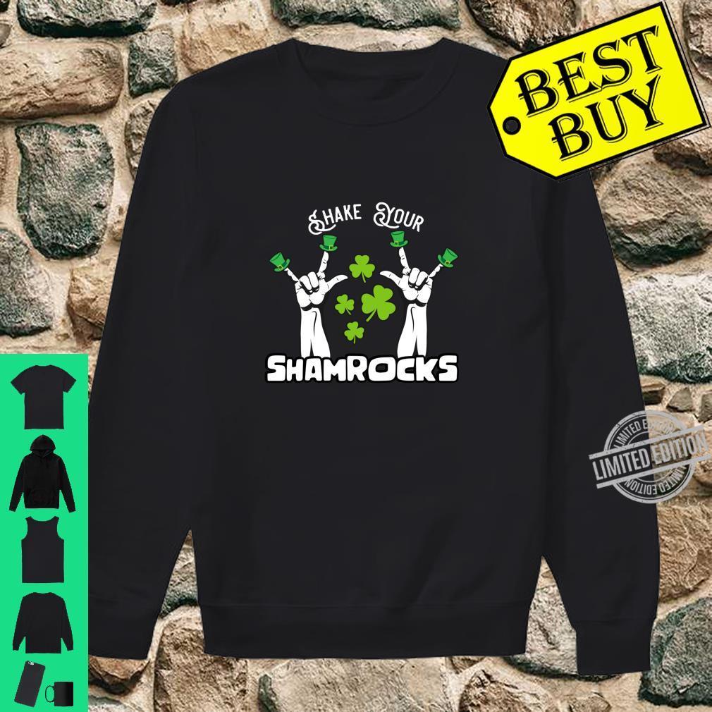Vintage Shake Your Lucky Shamrocks St Patrick's Day Irish Shirt sweater
