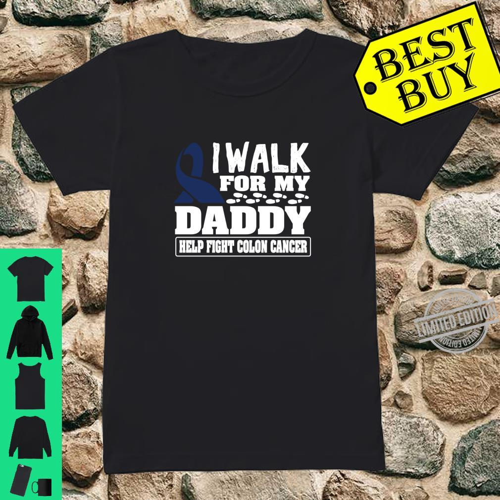 Walk For Dad Colon Cancer Awareness Ribbon Shirt