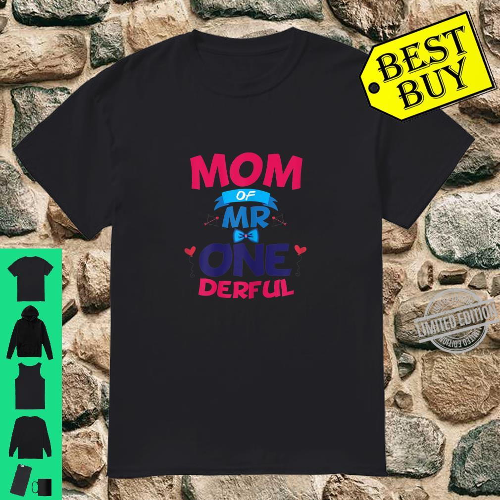 Womens Mother Of Mr One Derful Mom 1 st Birthday Onederful Boy Shirt