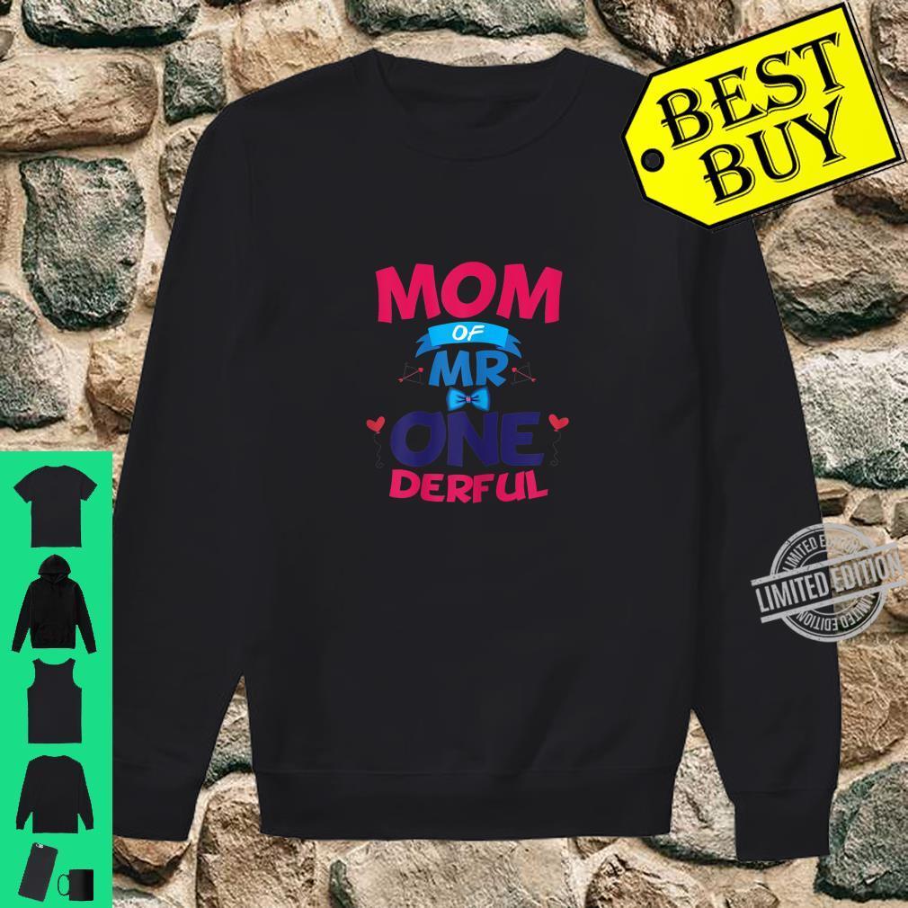 Womens Mother Of Mr One Derful Mom 1 st Birthday Onederful Boy Shirt sweater